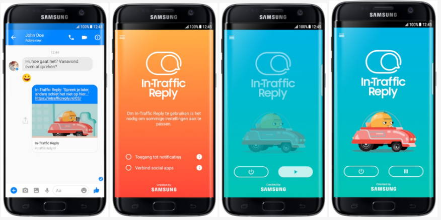 Samsung In Traffic Reply